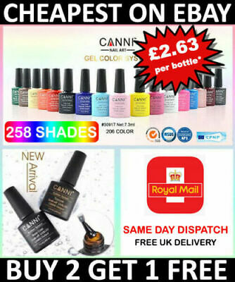 Nail Gel Polish Set CANNI Soak Off UV LED Colour Base Top Coat Nail Varnish  • 3.89£