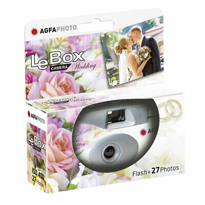AgfaPhoto LeBox 400 Wedding Disposable Camera With Flash (27 Exp) • 10.96£