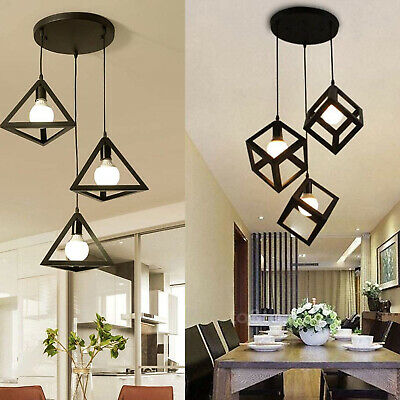 3 Way Modern Retro Industrial Ceiling Pendant Cluster Light Fitting Cage Style  • 38.89£