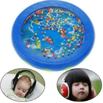 £3.91 • Buy Ocean Wave Sound Sensory Calming Bead Drum Toy For Toddler Baby Gift FB