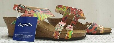 PAPILLIO By BIRKENSTOCK Ladies Womens Floral Wedge Ankle Sandals Size UK 5 EU 38 • 59£