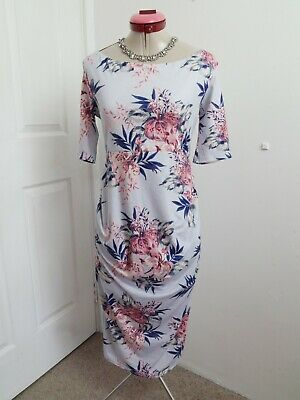 AU48 • Buy ASOS Baby Blue MATERNITY DRESS Size UK 12 BNWT NEW Pink Floral Shower Stretch
