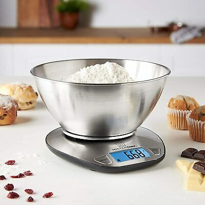 £14.99 • Buy MisterChef® 5KG Digital Kitchen Scale With Bowl Balance Food Weighing Cooking