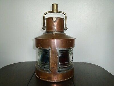 £280 • Buy Superb Second World War Copper And Brass Dual Port And Starboard Ships Lantern.
