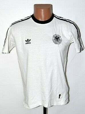 Germany 1970's Home Football Shirt Jersey Adidas Retro Replica Size S Adult • 34.99£