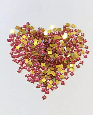Gems For Fabric & Craft, Gold Metal Flat Backed,approx 100 Per Pk. Total 10 Pks • 2.99£