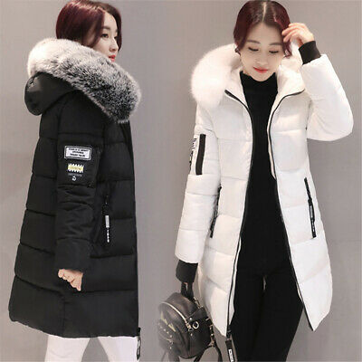 Womens Winter Hooded Parka Jackets Outerwear Ladies Winter Chunky Puffer Coats • 19.99£