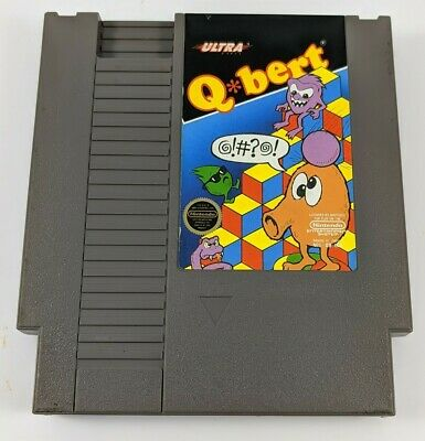 $ CDN16.48 • Buy TESTED Q Bert QBert Nintendo NES Game Original Cartridge Cart Q*Bert