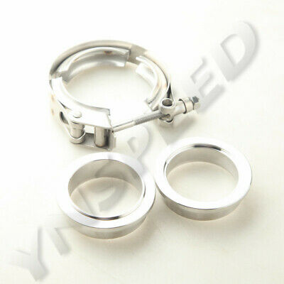 $ CDN23.46 • Buy Stainless Steel V-Band Quick Release Clamp + 2  Mild Steel Male/Female Flange