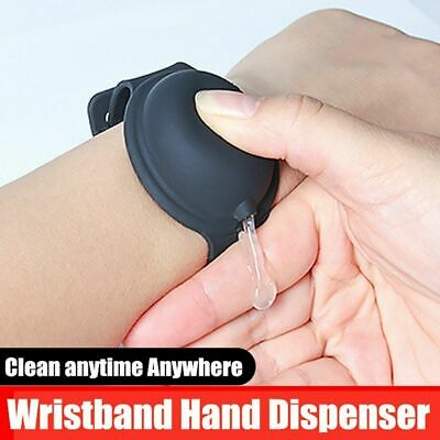 Portable Soap Bracelet Wristband Hand Cleaning Gel Dispenser &Squeeze Bottles UK • 2.79£