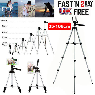 Universal Camera Phone Tripod Stand Telescopic Holder For IPhone Samsung Sony UK • 7.99£