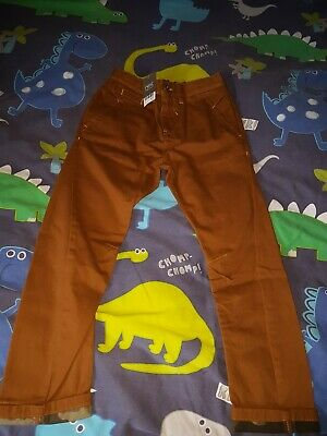 Boys NEXT Age 8 Years Twisted Tan Chinos.  NEW  • 7.55£