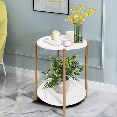 AU79.92 • Buy Modern Nordic Marble Coffee Table Living Room Sofa Side Table Round End Table AU
