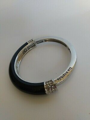 $ CDN12 • Buy LIA SOPHIA Chromatic Silver & Black Stretch Bracelet Size Medium(2 3/8  INSIDE)