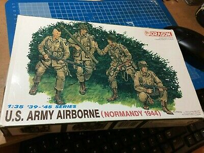 Dragon 1/35 6010 WWII US Army Airborne (Normandy 1944) (4 Figures) New • 12.25£