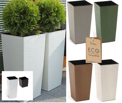 £19.99 • Buy Tall Square Planter With An Insert Modern Decorative Lamela Finesse Tree Pot