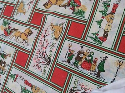 $ CDN26.67 • Buy Vintage Christmas Holiday Winter  Scene Pattern  Tablecloth 83  L X 58