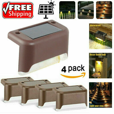 12 Pcs LED Solar Powered Fence Wall Lights Garden Lamp Step Path Decking Outdoor • 10.99£