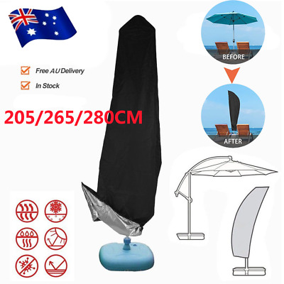 AU20.82 • Buy Outdoor Banana Umbrella Cover Garden Patio Cantilever Parasol Protective Deluxe
