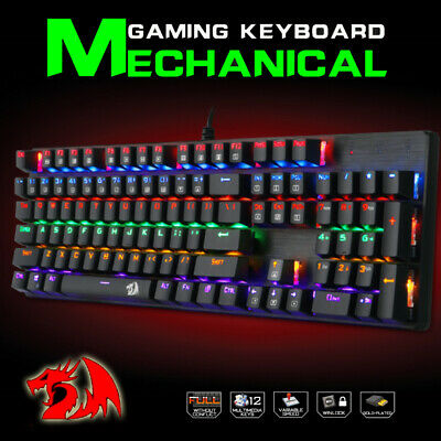 AU59.99 • Buy REDRAGON K208 Gaming Mechanical Wired Splash-proof Water Keyboard 104 Keys AU