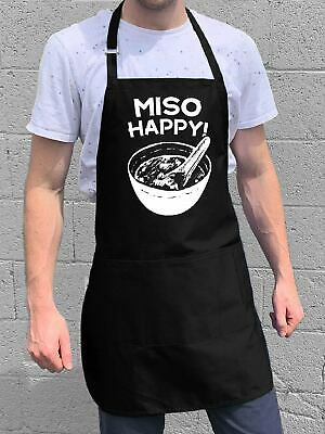$22 • Buy Miso Happy Apron / Funny BBQ Grilling Gift For Men - Dads & Grandpas