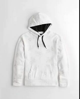 $19.99 • Buy  Hollister Men S Floral Box Logo Hoodie White Size MEDIUM Sold Out Onine
