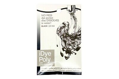 Jacquard IDye Poly Fabric Dye For Polyester & Synthetic Materials- Black • 6.40£