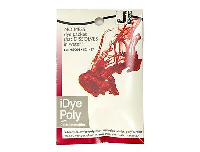 Jacquard IDye Poly Fabric Dye For Polyester & Synthetic Materials- Crimson • 6.40£