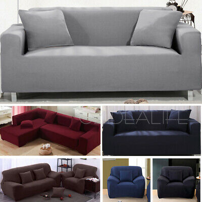 AU23.99 • Buy 1 2 3 4 Seater Stretch Sofa Cover Couch Lounge Chair Slipcover Protector Covers