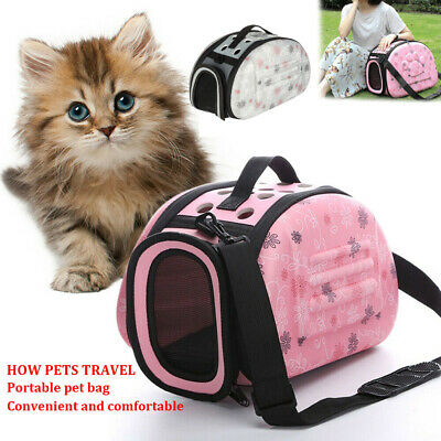 Pet Dog Cat Puppy Portable Travel Carry Carrier Tote Cage Bag Crates Kennel UK • 11.38£