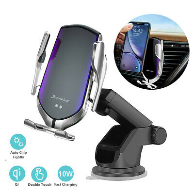 AU22.98 • Buy AU Qi Wireless Car Charger Auto-Clamping Car Phone Holder Mount For IPhone 11 XS