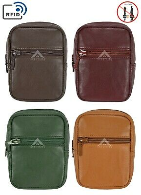 £5.99 • Buy Genuine Leather Cigarette Case With RFID Blocking Card Pocket Belt Loop Pouch
