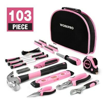 Ladies Pink 103Pcs Tool Bag Set Kit Women's Tool Set Girls Gift Tool Assortment • 27.95£