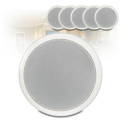 6.5  Round Speakers (x6) Low Impedance 16 Ohm In Ceiling PA Audio Installation • 64.24£
