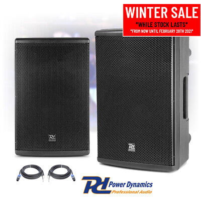 Pair Of 12  PA System Speakers For Mobile DJ Disco Live Band Stage 600w RMS • 275£