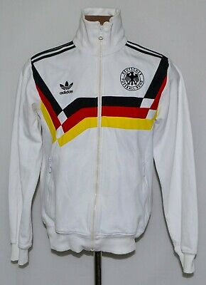 Germany National Team 1990 Retro Replica Training Jacket Adidas Size S Adult • 99.99£
