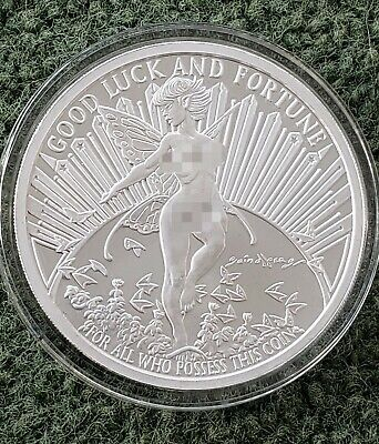 $ CDN299.78 • Buy 5 Oz .999 Pure Silver Proof Gwen The Fairy  Round Coin Bullion