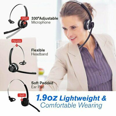 Mpow Wireless Headset With Microphone PC Skype Livechat Wired Headphones Earset • 24.09£
