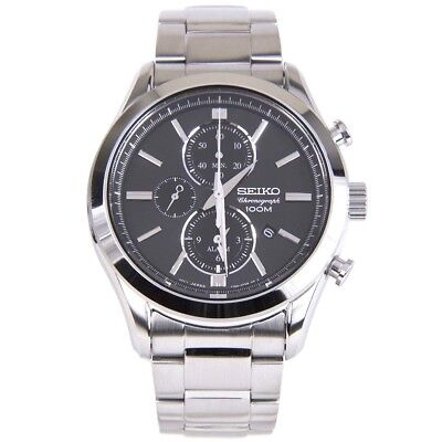 $ CDN277.35 • Buy Seiko Chronograph 100m Quartz Men's Watch SNAF67P1