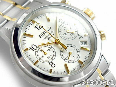 $ CDN224.01 • Buy Seiko Chronograph 100m Sports Two Tone Men's Watch SSB009P1  SSB009
