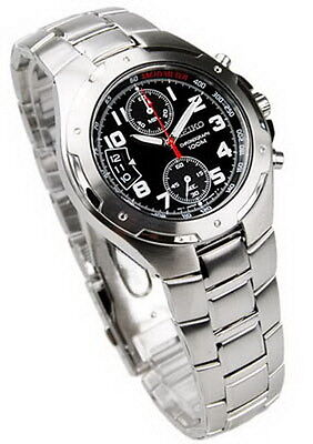 $ CDN277.35 • Buy Seiko Chronograph 100m Black Dial Men's Watch SNN137P1
