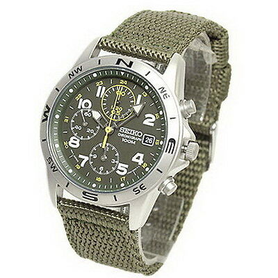 $ CDN265.35 • Buy Seiko Chronograph 100m Lyon Strap Men's Watch SND377R