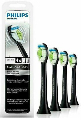 AU30.17 • Buy Philips Sonicare Diamond Clean Replacement Toothbrush Heads HX6064 BLACK