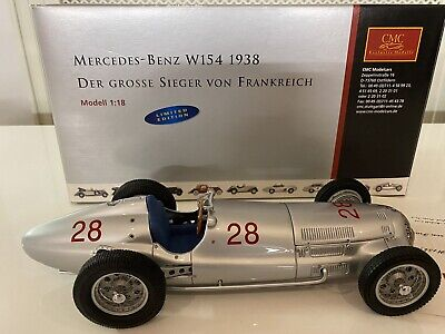 CMC 1/18 - Mercedes-Benz W154, Starting Number 28, 1938, M-040 - Extremely Rare • 421.95£