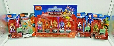 $56 • Buy Lot Masters Of The Universe MOTU Mega Construx Heroes Battle Of Eternia 9 Total