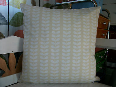 20ins X 20ins Cushion Cover Using Orla Kiely Fabric TINY WHITE STEM CREAM • 12£
