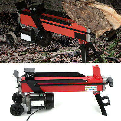 Electric Hydraulic Wood Cutter Portable Log Splitter 7T Splitting Timber 2200W • 324.99£