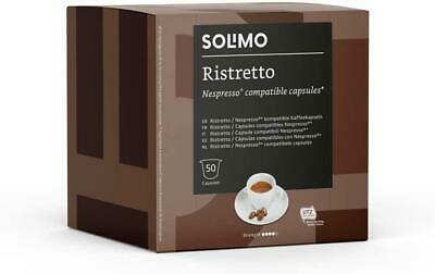 100 X Solimo Nespresso Compatible Lungo Capsules Roast Coffee UTZ Certified 2X50 • 12.42£