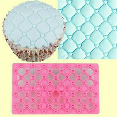 Embosser Mold Mould Cake Sugarcraft Decorating Cutter Fondant Quilting Icing • 2.28£