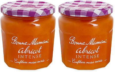 Bonne Maman Apricot Intense Jam 335g X 2 Authentic French Import Real Fruit • 11.95£